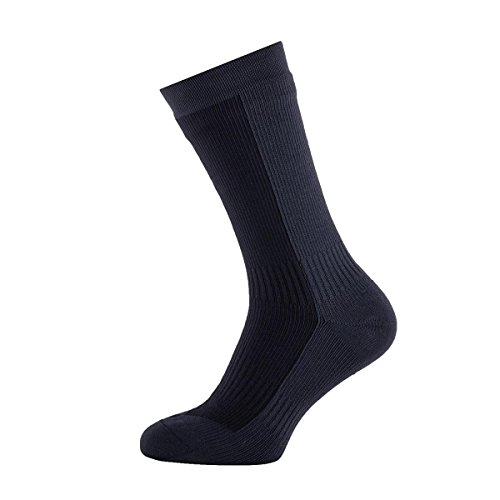 SealSkinz Herren Waterproof Hiking Mid Socks, Black/Anthracite, M