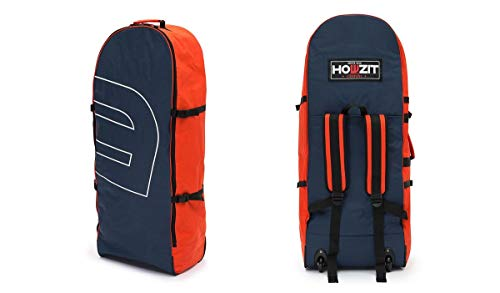 HOWZIT - iSUP Bag Wheel Rucksack Tasche Stand Up Paddling - Premium Bag, Farbe:Navy