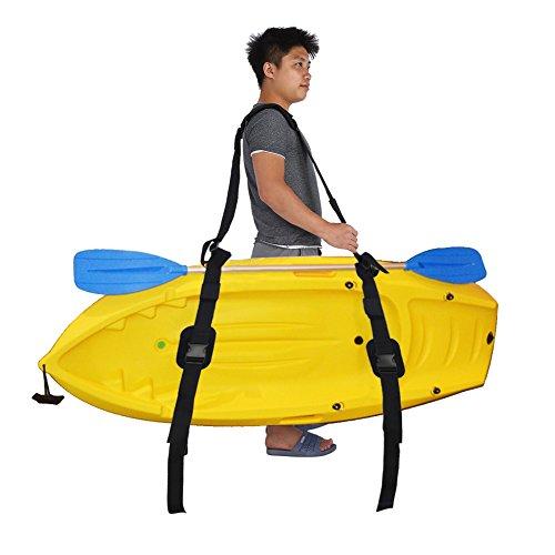 Tbest Kajak-tragender Bügel-Kanu-Surfbrett-Schultergurt, bewegliches justierbares Nylonkanu SUP Surfbrett-Bügel Longboard Tragen Gurt