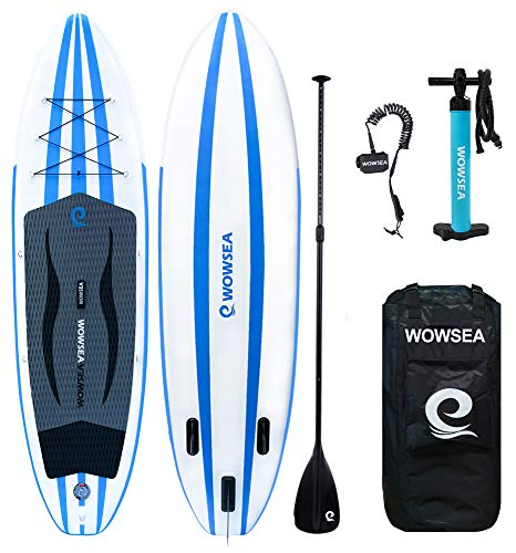 WOWSEA Aufblasbares Stand Up Paddle Board Set AN15 Inflatable SUP Paddling Board für Anfänger, 335cm, 15cm Dicke, Bis 150kg