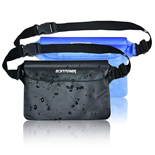 ECHTPower wasserdichte Tasche Beutel Bauchtasche Handyhülle Schutzhülle für Wassersport, Strand, Schwimmen, Bootfahren, Schutzhülle Strand-Tasche, 2 Stück