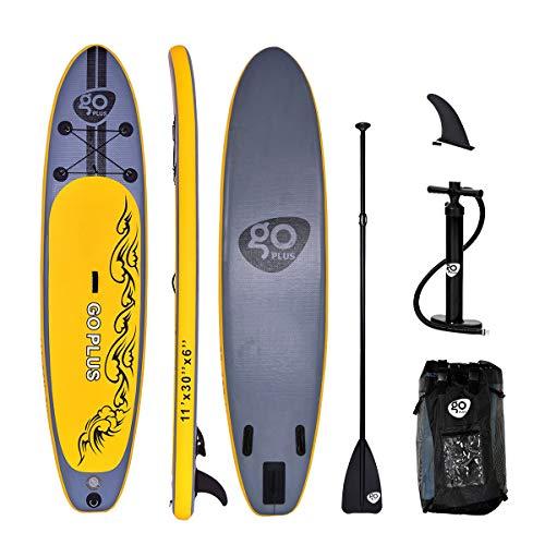 GOPLUS SUP Paddelboard aufblasbares Surfboard Stand Up Paddel Board Set Surfbrett, mit Pumpe, Paddel und Rucksack, 335 x 76 x 15 cm