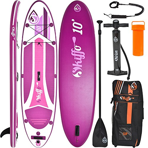 SKIFFO XX 10 SUP 300 x 76 x 12 cm Inflatable Isup aufblasbar Alu-Paddel Stand Up Paddle Board Set Pumpe Surfboard Paddelset