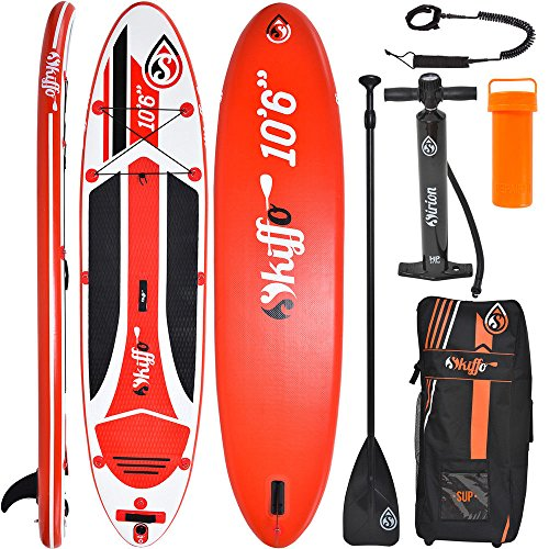 SKIFFO XY 10.6 SUP 320 x 76 x 15 cm Inflatable Isup aufblasbar Alu-Paddel Stand Up Paddle Board Set Pumpe Surfboard Paddelset