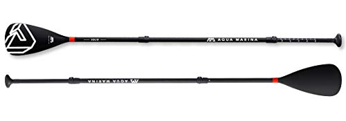 Aqua Marina Solid Adjustable Fiberglass iSUP Paddle, Black, 180-220 cm