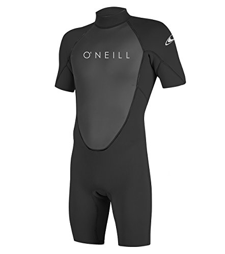 O'Neill Wetsuits Men's Reactor-2 2mm Back Zip Spring Wetsuit, Black/Graphite, 3XL