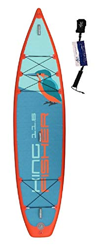 SUPwave Stemax Touring Kingfisher 11'6 SUP Standup Paddel Board aufblasbar inkl Coil-Leash, Stand up Paddle