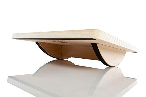 Powerball Balance Board – Hochwertiges Massivholz-Balance-Board für konzentriertes Kerntraining, Bein- und Oberkörperstärkung – Zur Verbesserung des Gleichgewichts und der Koordination