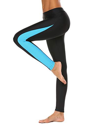 Unibelle Damen Badehose Tauchhose Sonnenschutz Wassersport Warm Schwimmenhose Surfing Leggings, Blau, S