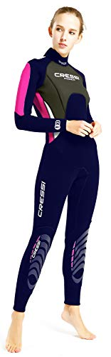 Cressi Damen Morea Lady Wetsuit Full 3mm, Blau/Grau/Silber, 3XL