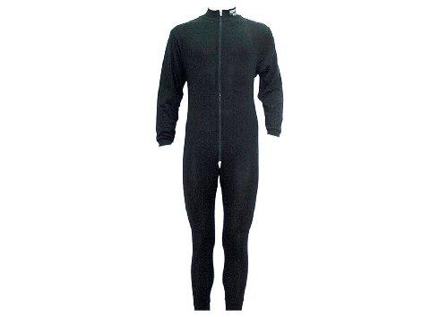 Sherwood Erwachsene Unterwäsche 1 Teilig mit Zip, Schwarz, XXL, 8400