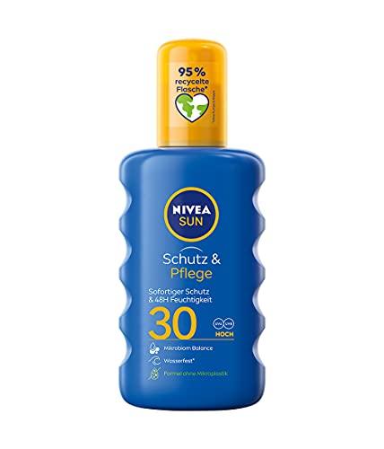NIVEA SUN Sonnenspray im 1er Pack (1 x 200 ml), feuchtigkeitsspendendes Sonnencreme Spray mit LSF 30, pflegende und wasserfeste Sonnenlotion
