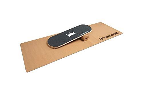 BoarderKING Indoorboard - Classic - Skateboard Surfboard Trickboard Balanceboard Balance Board (Black, 100 mm x 33 cm (∅ x L))