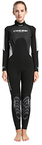 Cressi Damen Morea Lady Wetsuit Full 3mm, Rosa/Blau/Silber, 3XL