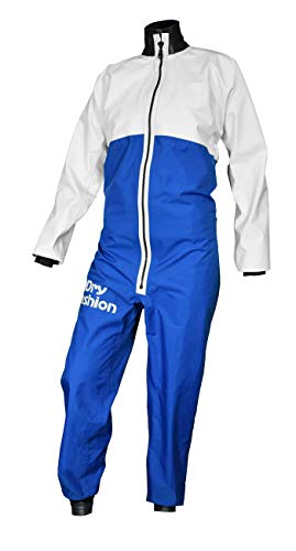 Dry Fashion Damen Herren Trockenanzug SUP-Advance Segelanzug wasserdicht, Farbe:weiß/blau, Größe:XL