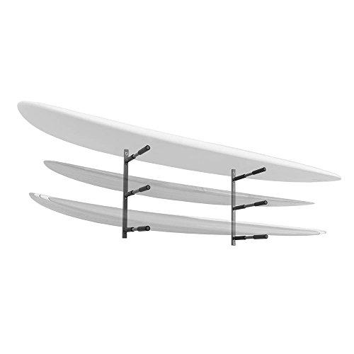 Stoneman Sports ps-35Sparehand Wandhalterung Triple Paddle Board oder SUP Aufbewahrung Rack, grau Finish