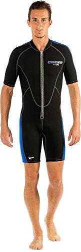 Cressi Herren Neopren Schwimmanzug Lido, schwarz/blau, XS, LV455001