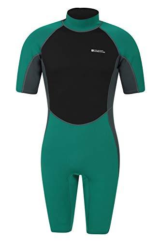 Mountain Warehouse Shorty Herren-Tauchanzug in voller Länge - Körper: 2.5mm, bequemer, einteiliger Neopren-Surfanzug, leicht schließender Reißverschluss - für Tauchen Petrolblau Large/X-Large