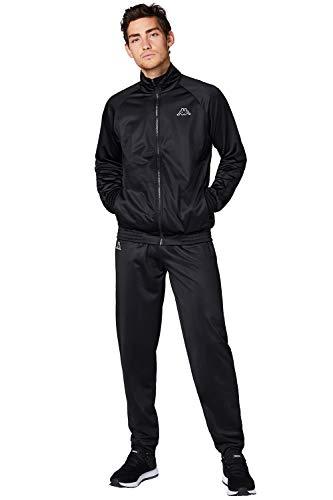 Kappa Trainingsanzug Villos für Herren, bequemer Tracksuit für Sport, Freizeit und Reisen, die Jogginghose & Trainingsjacke sind atmungsaktiv, schnell trocknend, Caviar, Größe XL