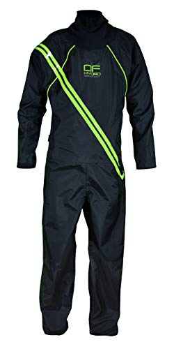 Dry Fashion Damen Herren Trockenanzug SUP Performance, Farbe:schwarz/grün, Größe:164