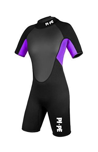 PI-PE Damen Neoprenanzug Pro Spring Short Sleeve Lilac, S