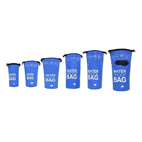 DonDon wasserdichter Outdoor Dry Bag Beutel Sack Trockentasche mit Riemen Schutz vor Wasser Trockenbeutel für Ihre Wertsachen und Gegenstände blau 20 Liter
