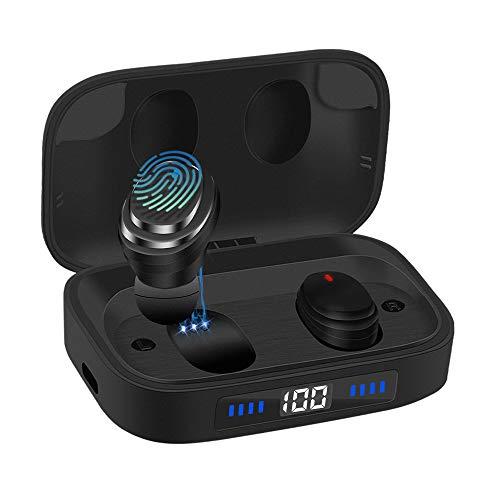 Ceppekyy Bluetooth Kopfhörer Kabellos In Ear Ohrhörer IPX7 Wasserdicht Wireless Earbuds Bluetooth 5.0 Headset mit Mikrofon, LED Akkuanzeige, 2000mAh Batterie, 80H Wiedergabezeit für Sport