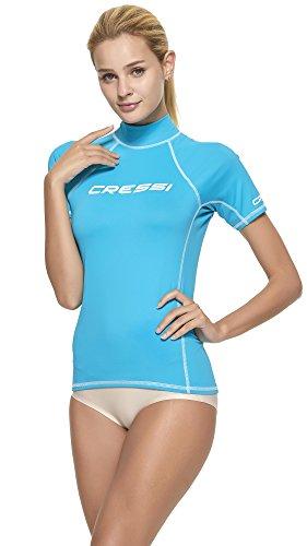Cressi Damen Rash Guard Kurzarm, UV-Schutz UPF 50+, Aquamarin, XS/1 (36)