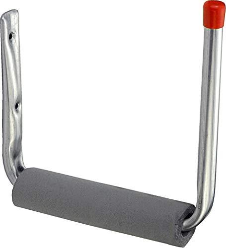 Connex Surfbretthaken 235 x 210 x 205 mm - Belastbar bis 15 kg - Mit Schaumstoffüberzug & Gummikappe - verzinkt / Universalhaken / Montagehaken für Garage / Werkstatthaken / Ordnungshelfer / DY222011