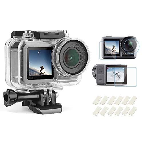 SHOOT 98ft/30m Wasserdichtes Gehäuse mit Gehärtetem HD-Schutzfilm für DJI OSMO Action Kamera Zubehör-Kit