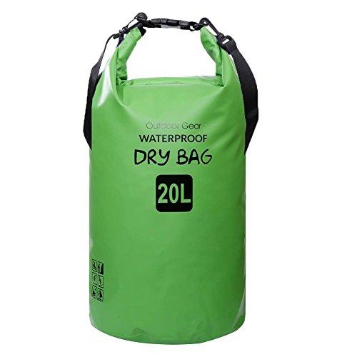 ZhaoCo Wasserdichter Packsack, 5L/10L/20L/30L wasserdichte Tasche Sack PVC Dry Bag für Kayaking, Bootfahrt, Kanufahren, Fischen, Rafting, Schwimmen, Kampieren, Snowboarding Wassersport
