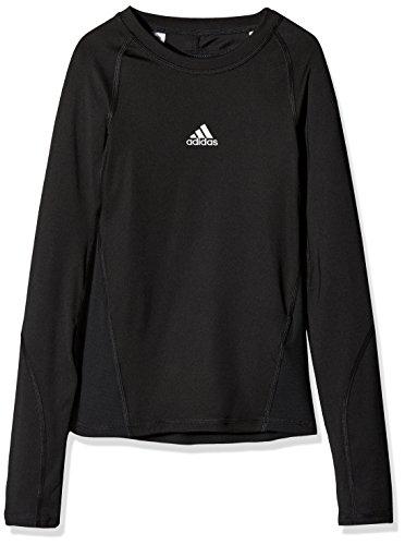 adidas Jungen Ask LS Tee Y Long Sleeved T-Shirt, schwarz, 152/11-12 Jahr