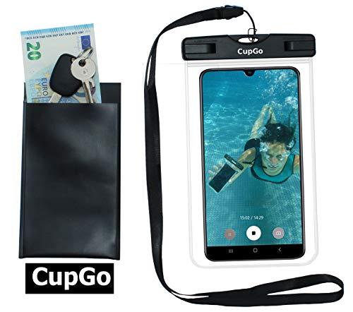CUPGO Unterwasser Handyhülle-Handyschutz Staubdichte Handytasche Wasserfester Beachbag Wasserdicht zum Tauchen - Gut geeignet für Smartphone iPhone X 8 7 6s SE Samsung S9 S8 S7 Edge Handys bis 6 Zoll