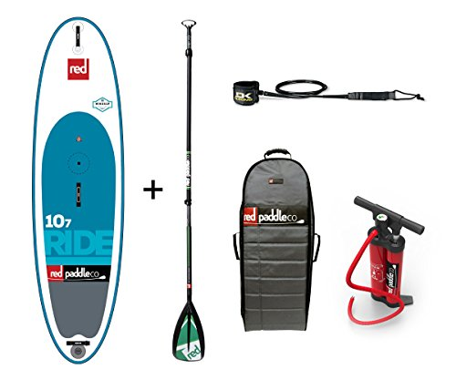 Red Paddle Co 2017 10'7 Ride WINDSUP Inflatable Stand Up Paddle Board + Bag, Pump, Paddle & Leash