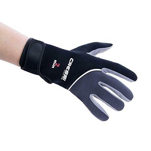 Cressi UnisexErwachsene Tropical Gloves Handschuhe für Wassersport in Amara und Neopren 2 mm, Schwarz/Grau, L