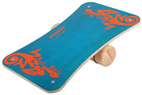 pedalo Rola-Bola Fun I Gleichgewichtstrainer I Balanceboard I Koordination I Balancierbrett I Fun-Sport I Surfboard I Skateboard I Freestyle (blau)