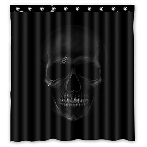 Personalisierte Cool und Horror Totenkopf-Design, dunkel, 100% Polyester, wasserdicht Duschvorhang, Textil 152.40 cm x 182.88 cm ', mit Ringen