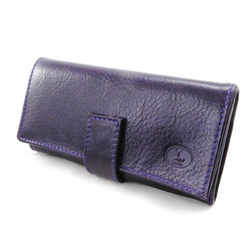 Große ledertasche 'Frandi' purpur (ökologische york).