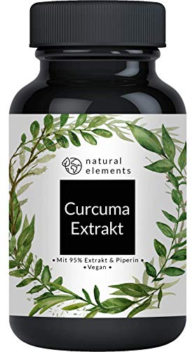 Curcuma Extrakt Kapseln (90 Kapseln) - Curcumingehalt EINER Kapsel entspricht dem von ca. 10.000mg Kurkuma - Hochdosiert aus 95% Extrakt - Laborgeprüft