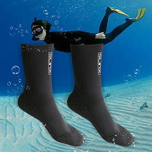 3mm-Dicke Neoprensocken Erwachsene, Tauchsocken Neoprensocken, Wassersport Tauchen Schwimmen Socken, Easy Fit Schuhe für Schwimmen,Schnorcheln, Segeln, Surfen Neopren Badesocken (S)