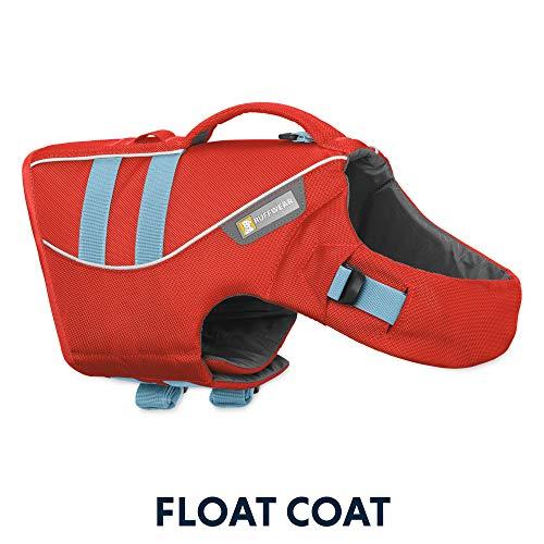 Ruffwear Schwimmweste für Hunde, Kleine Hunderassen, Größenverstellbar, Größe: S, Rot, Float Coat, 45102-601S