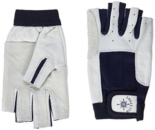 BluePort Damen Herren Segelhandschuhe aus Leder - 5 Finger frei