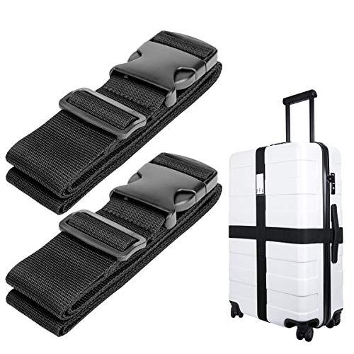 Luxebell Gepäckgurt Koffergurt Kofferband Koffer Gepäckgurte Lang Schwarz