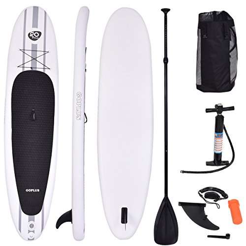 COSTWAY Sup-Board Paddelboard Surfboard Paddelbrett Stand Up Board Set aufblasbar inkl. Sicherungsleine 335 x 76 x 15cm