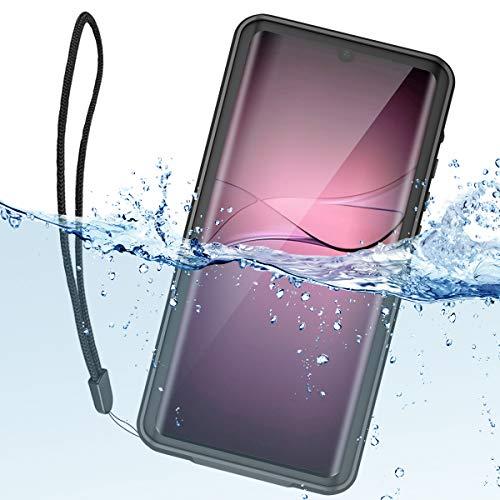 ShellBox Huawei P30 Pro Hülle IP68 wasserdichte Handyhülle 360 Grad Silikon mit Band Fallschutz Stoßfest Staubdicht Robuster Stoßfänger Dünn Wasserfest Schutzhülle für Huawei P30 Pro