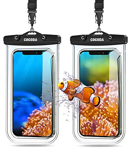 Cocoda wasserdichte Handyhülle, IPX8 Unterwasser Handyhülle 7,0 Zoll [2 Stück], Wasserfeste Hülle für Tauchen, Schwimmen, Kajak, Kompatibel mit iPhone 12 Pro Max/11 Pro/XR/X/Samsung/Huawei/Xiaomi