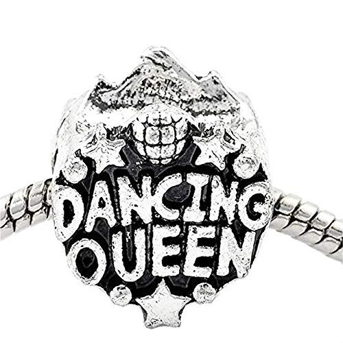 Sexy Sparkles Damen 'Dancing Queen' Super Star Charm Spacer Bead Abstandhalter für europäische Schlange Kette Charm
