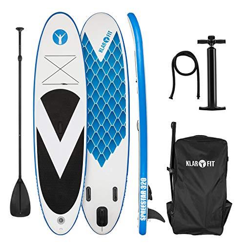 Klarfit Spreestar 325 aufblasbares Paddelboard Set 325 x 15 x 86 schwarz-blau
