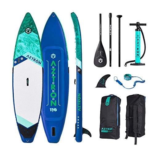 AZTRON URONO 11.6 Double Double Sup Stand up Paddle Board mit Style Alu Paddel und Leash