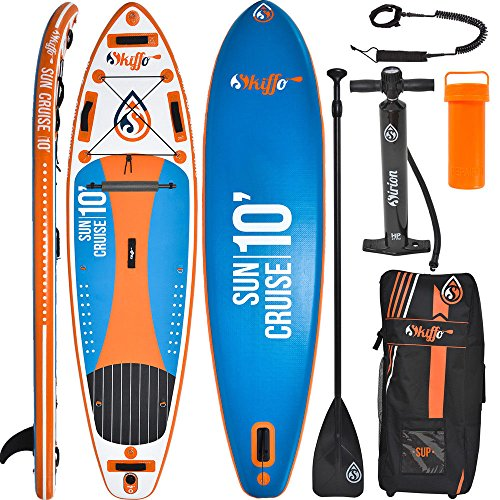 SKIFFO Sun Cruise 10 SUP 300 x 82 x 12 cm Inflatable Isup aufblasbar Alu-Paddel Stand Up Paddle Board Set Pumpe Surfboard Paddelset
